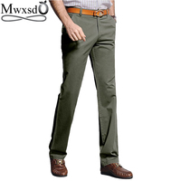 Mwxsd brand Autumn men's Casual cotton long pants Male slim fit straight suit Pants Army Pants khaki tactical pants Trousers