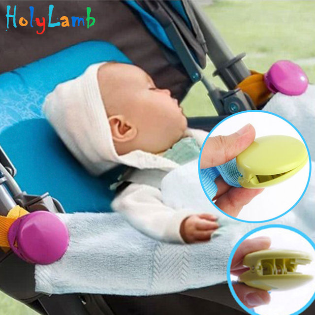 2Pcs/Lot Baby Stroller Clip Stroller Accessories Plastic Stroller Multifunctional Felt Clip Portable Baby Multi-function Clip