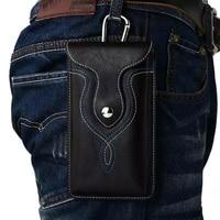Man Belt Clip Outdoor Pouch Mobile Phone Leather Case Bags For Nokia 6 Asus Zenfone Pegasus