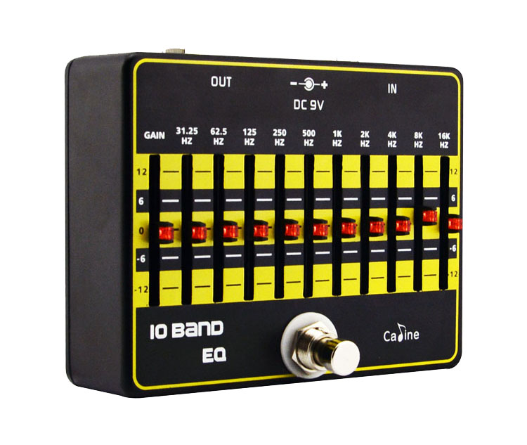 High Quality Caline CP-24 10-Band EQ Equalizer Guitar Effect Pedals Professional Guitar Effects True Bypass Design Caline Pedal joyo eq 307 folk guitarra 5 band eq acoutsic guitar equalizer high sensibility presence adjustable with phase effect and tuner