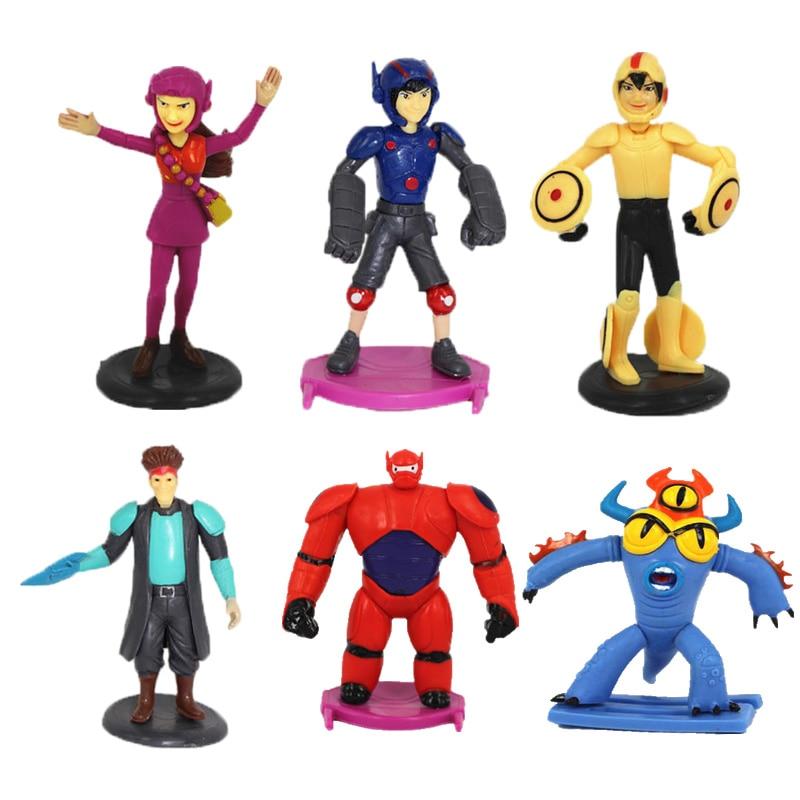 <font><b>Disney</b></font> Toys <font><b>Big</b></font> New Arrival Fashion Gift For Kids <font><b>6</b></font> Pcs/Set Cartoon Anime <font><b>Big</b></font> <font><b>Hero</b></font> <font><b>6</b></font> <font><b>Baymax</b></font> Plastic <font><b>Action</b></font> <font><b>Figures</b></font> Ty845