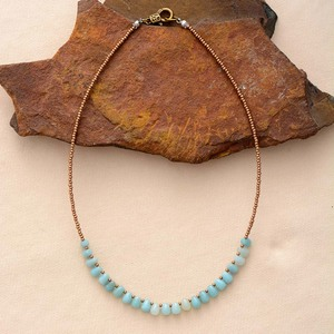 New Women Chokers Necklaces Amazonite Seed Beads Short Necklace New Fashion Statement Necklaces Mom Gifts Jewelry(China)