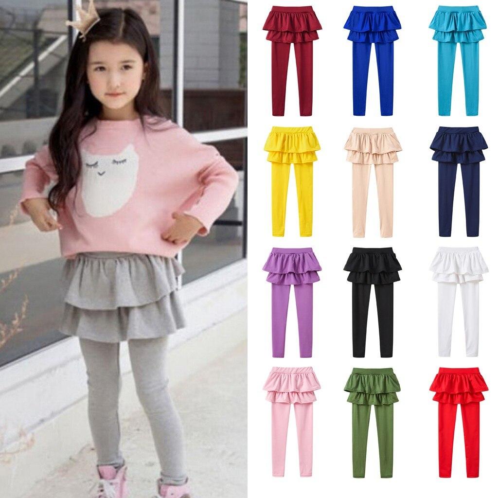 Girls Children Winter Warm Velvet Leggings Solid Candy Color Pants Cozy 2019
