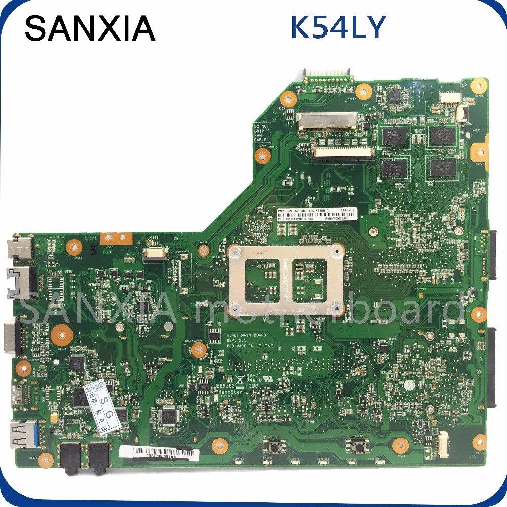 Шели оригинальный K54LY материнская плата для ноутбука для ASUS k54l K54LY X54H платы PM тестирование материнской платы в наличии rev2.0/2.1 100% работа