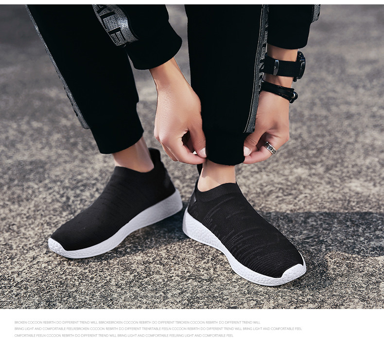 HTB1KkifzeOSBuNjy0Fdq6zDnVXaU Thin Shoes For Summer White Shoes Men Sneakers Teen Shoes Without Lace Trend 2019 New Feel Socks Shoes tenis masculino chaussure