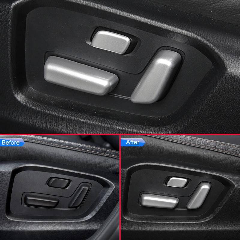 For Kia Sportage 2016 2017 ABS Inner Car Seat Adjustment Button Decorative Cover