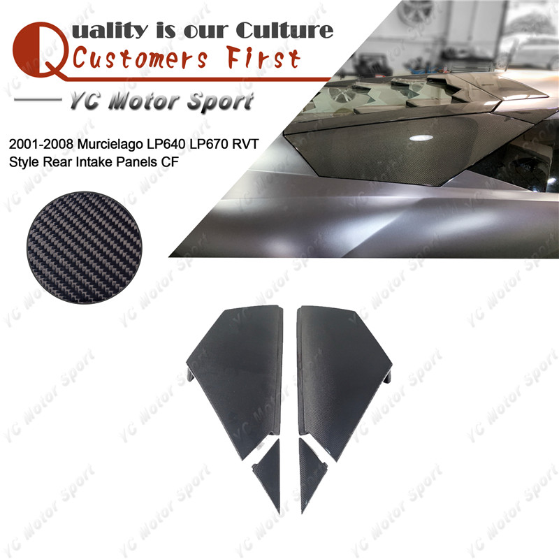 Car Accessories Carbon Fiber Intake Panels 4pcs Fit For 2001-2008 Murcielago LP640 LP670 RVT Style Rear Intake Panel
