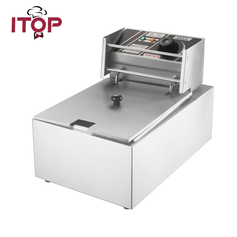 ITOP 8L Electric Deep Fryer Stainless Steel Frying Machine Commercial Or Household High Quality Fryer Kitchen Tools ce stainless steel household and commercial 6l electric deep fryer frying machine with free shipping to some countries