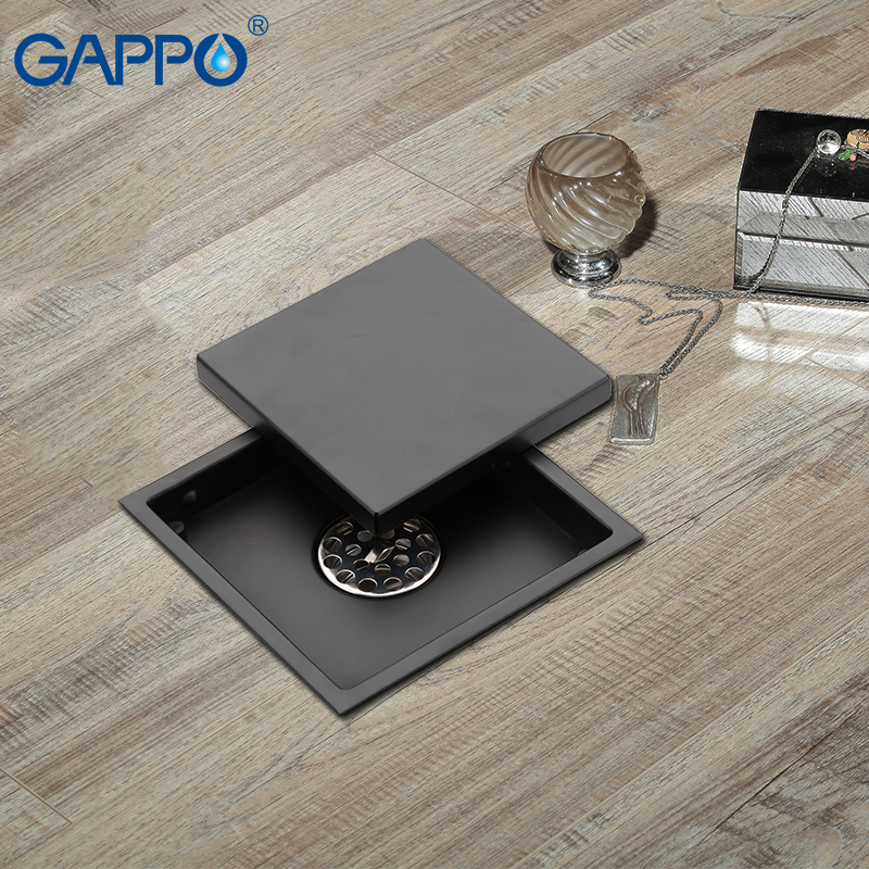 GAPPO Drains Anti-odor square shower drain strainer Black floor cover bathroom Drain drainers stopper shower floor drains       GAPPO Drains Anti-odor square shower drain strainer Black floor cover bathroom Drain drainers stopper shower floor drains