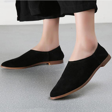2018 women flats shoes leather pointed t
