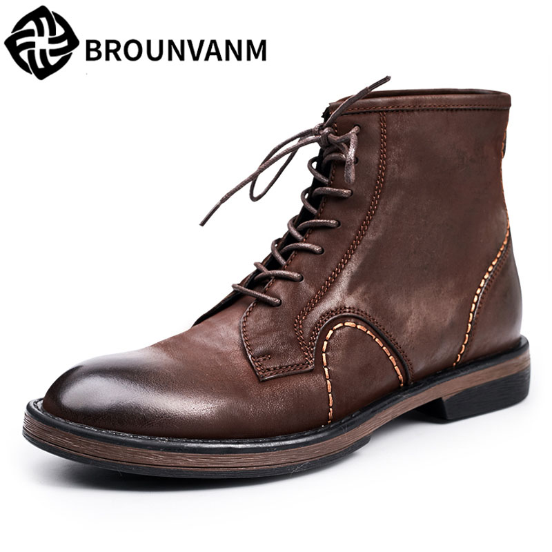 winter Martin boots, 2017 new autumn winter British retro men shoes zipper leather shoes breathable sneaker fashion boots men mulinsen newest 2017 autumn winter men