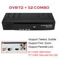 DVB-T2 + S2 Combo 2 em 1 Receptor de Satélite Digital dvb t2 Combo + S2 HD 1080 P Caixa de tv dvb-t2 H.264/MPEG-2/4 para A Rússia Europa