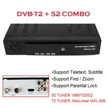 DVB-T2 + S2 Combo 2  in 1 Digital Satellite Receiver Combo dvb t2 + S2 HD 1080P dvb-t2 tv Box H.264 / MPEG-2/4 for Russia Europe