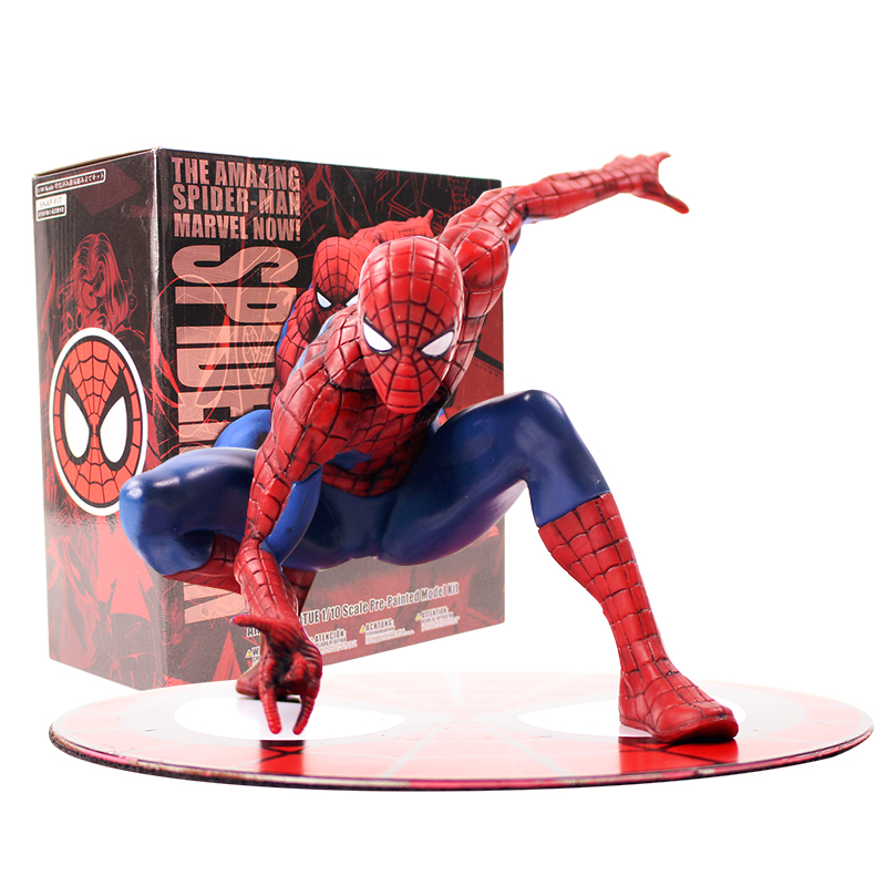 Marvel The Amazing SpiderMan with Scarf <font><b>ARTFX</b></font> + STATUE <font><b>1/10</b></font> <font><b>Scale</b></font> Pre-Painted Model Kit PVC Figure Model Toys image