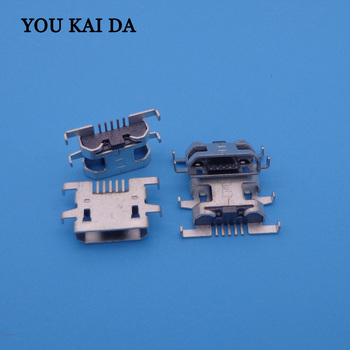 500pcs Mini Micro USB Jack Connector Female 5 pin Charging port Socket For Sony Xperia M C1904 C1905 C2004 C2005