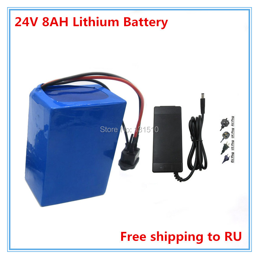 <font><b>Battery</b></font> <font><b>24V</b></font> <font><b>8AH</b></font> lithium <font><b>battery</b></font> pack <font><b>24V</b></font> <font><b>8AH</b></font> <font><b>electric</b></font> <font><b>bike</b></font> <font><b>battery</b></font> pack 15A BMS 29.4V 2A charger FREE SHIPPING image