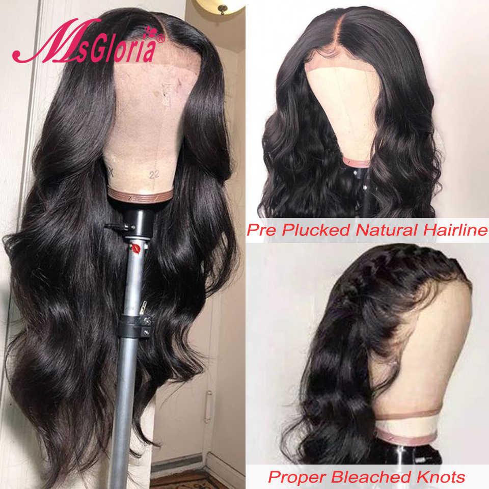 150 gęstości wstępnie oskubane 13x6 koronki przodu włosów ludzkich peruk dla kobiet peruwiański nie Remy ciało fala ludzkich włosów peruka bielone węzłów