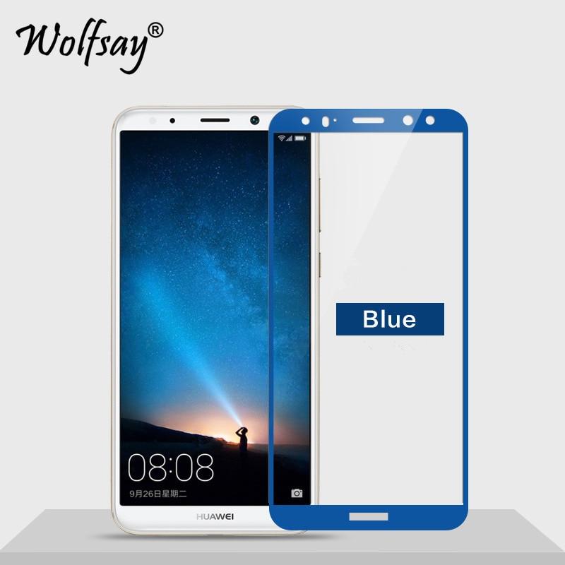 1pcs Glass Huawei Nova 2i Screen Protector Tempered Glass Huawei Nova 2i Glass Huawei Mate 10 Lite Protective Film Wolfsay