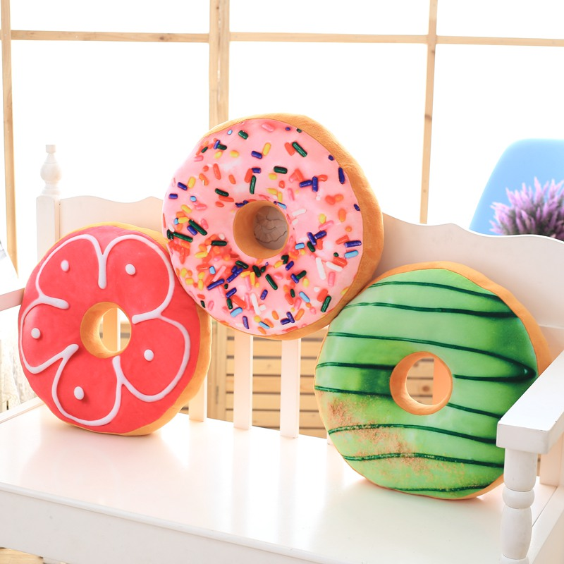 Donut Plush Cushion Creative Simulation Food Stuffed Toy Funning Food Pillow Cushion Office Nap Pillow Best