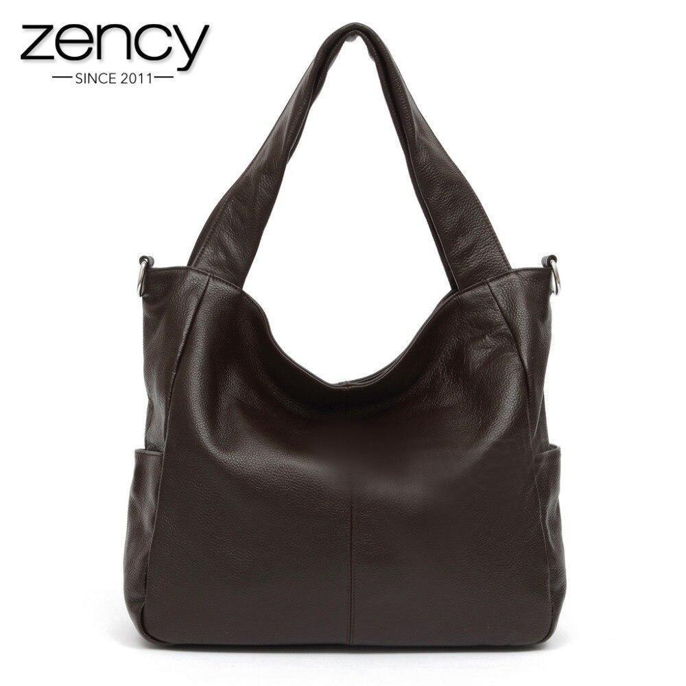 Zency модные женские туфли сумка 100% пояса из натуральной кожи леди Crossbody Кошелек Tote сумки кофе черная