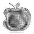 Apple design completa pedrinhas mulheres bolsas de ombro cadeia garras dia bolsas de prata / ouro / preto sacos de noite