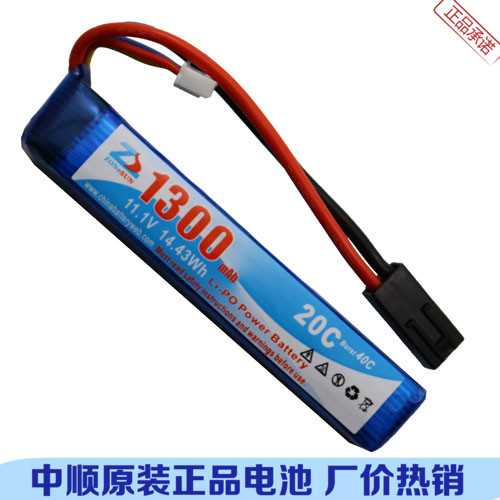 In the 1300 Ma 11.1V core power polymer lithium battery 12V CS model M4 GS36 AK47 Li-ion Cell brown 3 7v lithium polymer battery 7565121 charging treasure mobile power charging core 8000 ma rechargeable li ion cell
