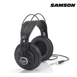 100% Original Samson SR850 monitoring HIFI headset Semi-Open-Back Headphones for Studio, with leathe earcup,without retail box