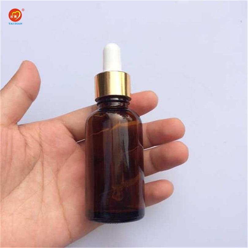 Groothandel 30 ml glazen druppelaar flessen met pipet dop lege esssentail olieflessen e vloeibare lege cosmetische containers 24 stks / partij