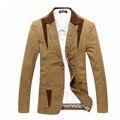 Primavera-Otoño 2014 de Los Hombres Traje Casual Blazer Slim Fit Chaqueta de Traje Casual de Negocios de Los Hombres Más El Tamaño 4XL Abrigo de hombre de Algodón prendas de Vestir Exteriores