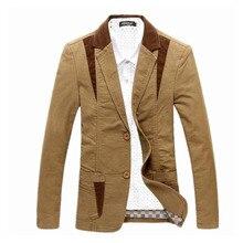 Frühling-Herbst 2014 Herren-casual-anzug Blazer Slim Fit Herrenanzug Jacke Beiläufige Geschäfts Plus Größe 4XL männer Baumwolle Mantel Oberbekleidung