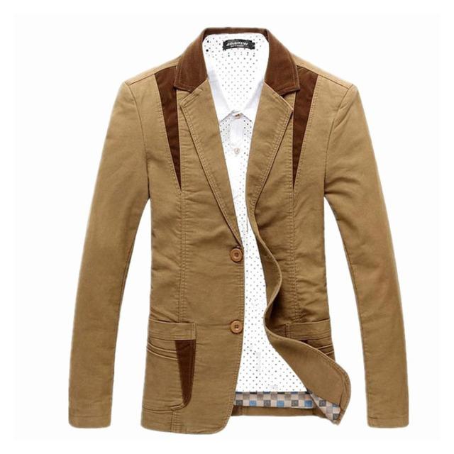 Spring-Autumn 2014 Men's Casual Suit Blazer Slim Fit Men's Suit Jacket Casual Business Plus Size 4XL Men Cotton Coat Outerwear
