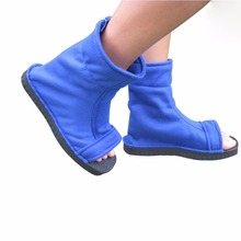 Naruto shoes Cosplay Naruto Costumes kids adult Shoes Anime party Props Blue black shoes