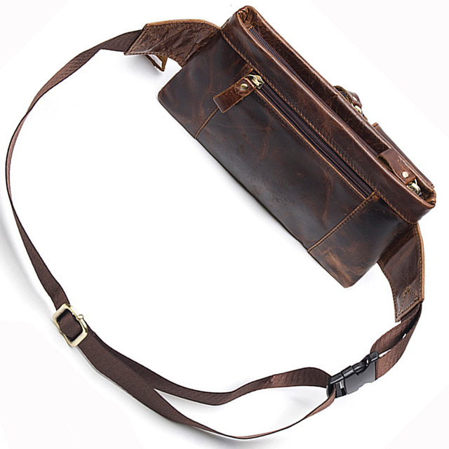 Genuine Leather Travel Waist Pack