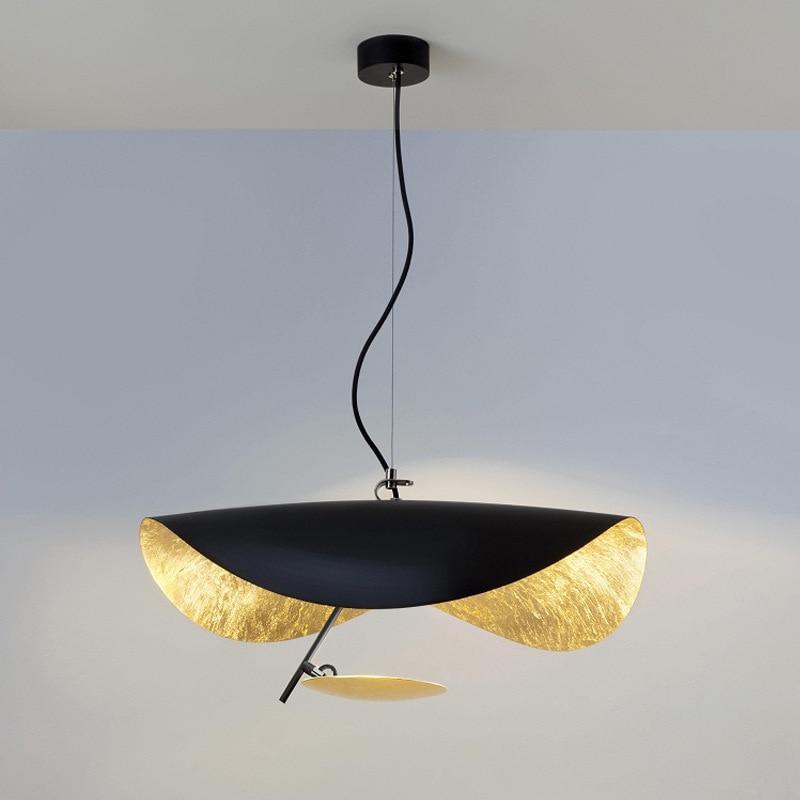 Postmodern Minimalism Led Pendant Lights Flying Saucer Hat Art Home Decor Hanglamp Living Room Restaurant Kitchen Lights Hanging