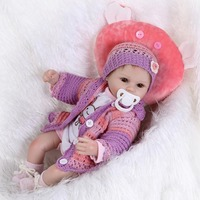 40cm Silicone Reborn Baby Doll Kids Playmate Gift For Girls 16 Inch Baby Alive Soft Toys