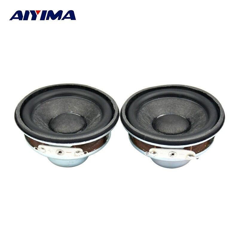 AIYIMA 2Pcs 2inch Audio Potable Speakers 52mm 16core 4ohm 5W Inner magnetic Enthusiast Circular HiFi Full Range Speaker