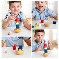 Дети Деревянные Игрушки Геометрические головоломки Балансировки Монтессори Развивающие игрушки Для детей Семья игра-головоломка рождественские игрушки CU47