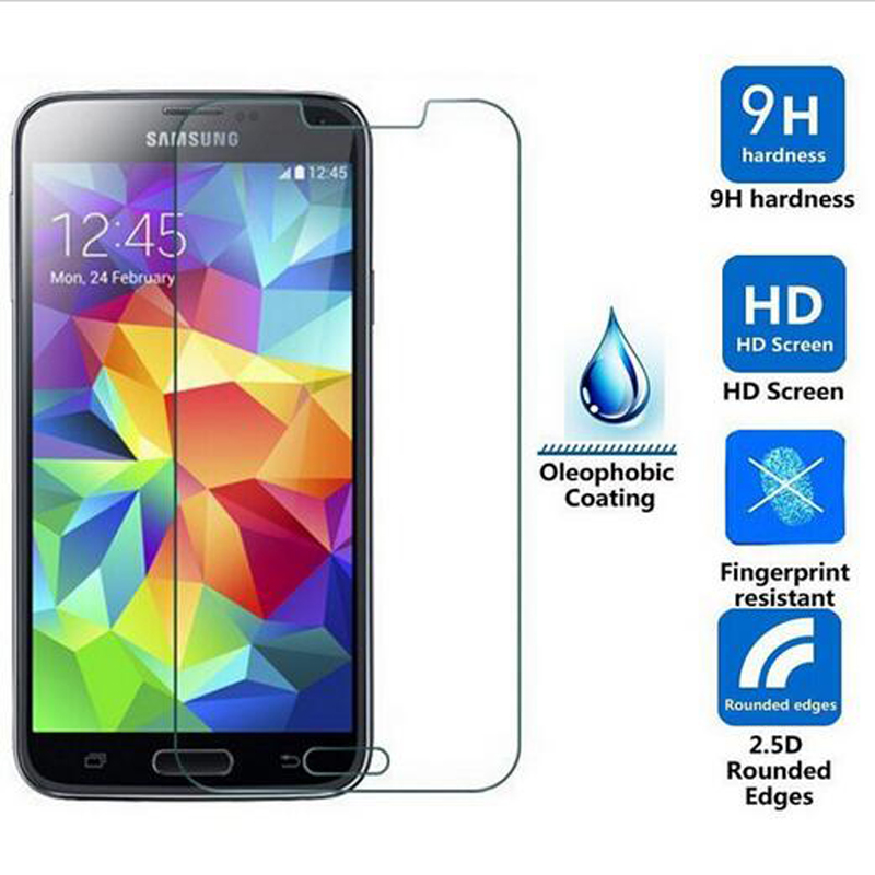 LGYD 50 PCS 0.26mm 9H 2.5D Tempered Glass Film for Galaxy A8 Screen Protector Film 2016