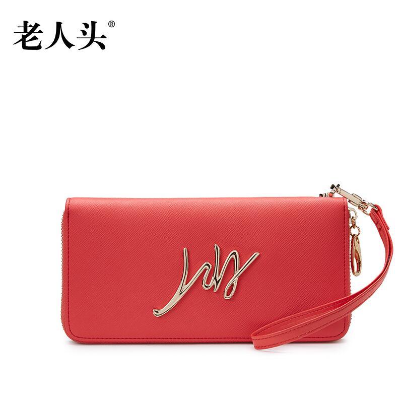 2016 laorentou high end luxury fashion leather clutch bag large capacity mobile phone brand100 high quality
