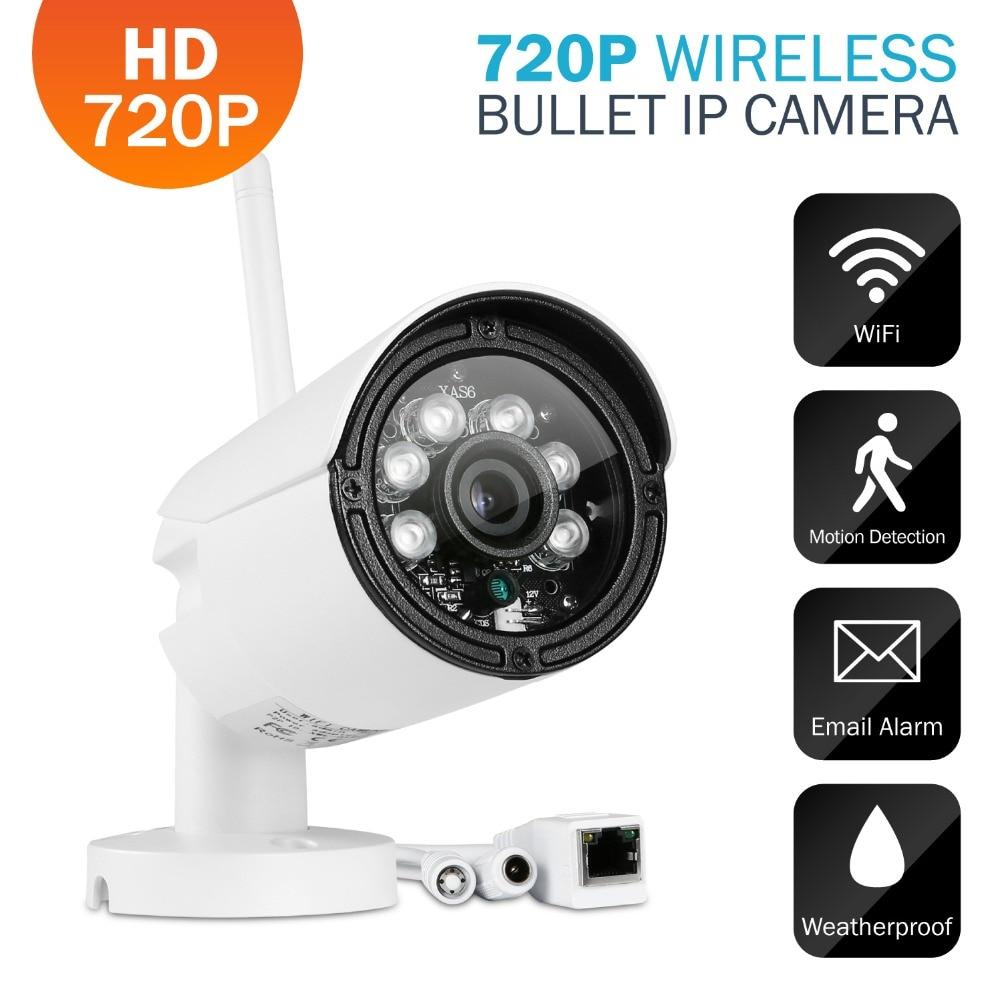 Sannce p2p 720p wifi ip camera hd 720p wireless bullet ip - Camera ip wifi exterieur hd ...
