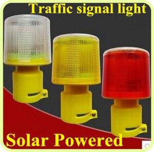 Luces Led de seguridad vial con energía solar, luces de señal, luces de emergencia, baliza de advertencia, lámpara de alarma, a prueba de agua