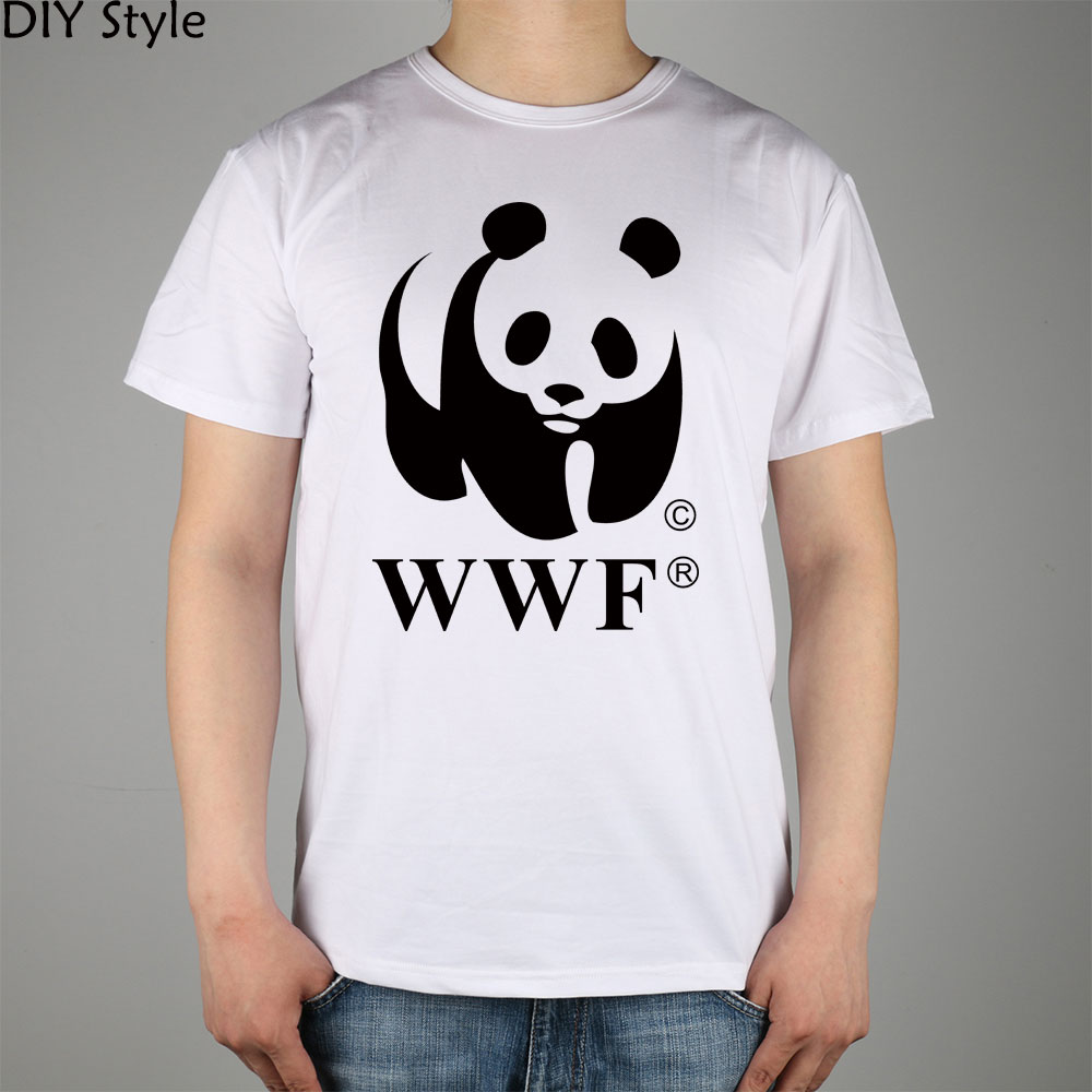 WWF Panda Wildlife Conservation T-shirt cotton Lycra top 5002 Fashion Brand t shirt men new DIY Style high quality(China)