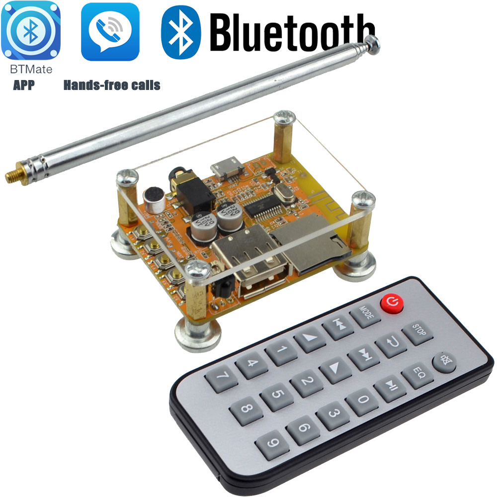 DIY Bluetooth 4.2  Wireless Audio Receiver Board Stereo Sound Module 5V with Mobile APP Control Function and Hands-free calls