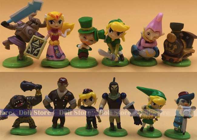 12 pçs/set 3-5 centímetros ligação PVC Action Figure set Modelo Coleção crianças Brinquedos Bonecas Classic Toys brinquedos