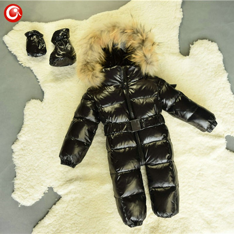 6M-4T Baby Girls White  Duck Winter Down Coat +Down Gloves Clothes Kid Boys Ski Snow Thick Hooded Warm Jacket Clothing Snowsuit (13)