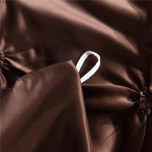 Image 5 - LOVINSUNSHINE مجاميع راحة الفراش مزدوجة لحاف مجموعة غطاء الملك الحجم الفاخرة الحرير المعزي غطاء AC03 #