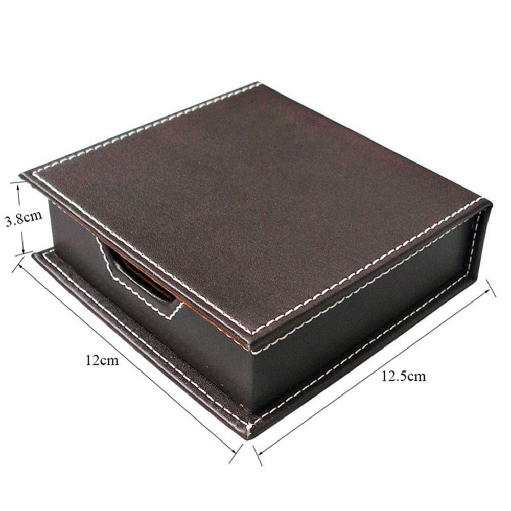 Kingfom 4pcs Modern Upscale PU Leather Office Supplies Sets Stationery  Storage Box Card Holder Pen Holder Desk Sets Brown T49K In Desk Set From  Office ...