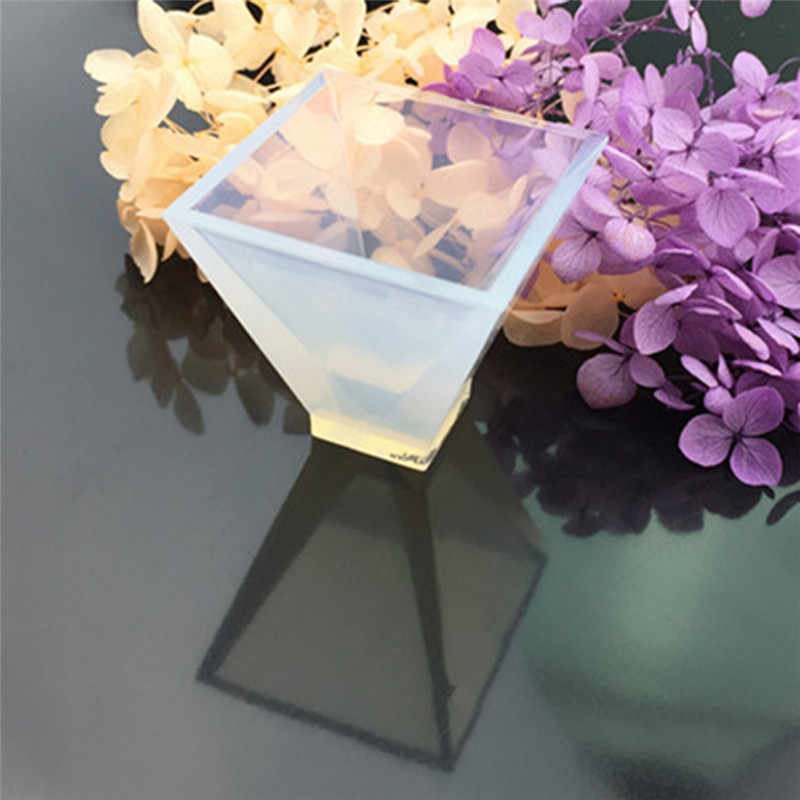 Transparent Pyramid Silicone Mould resin molds DIY Resin Decorative Craft  Jewelry Making Mold for jewelry