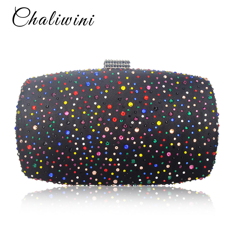 Multifunction Crystal Mini Lady Clutch Evening Bag Multicolor Wallet Nigerian Wedding Matching Bag Women Party Luxury Day Bags