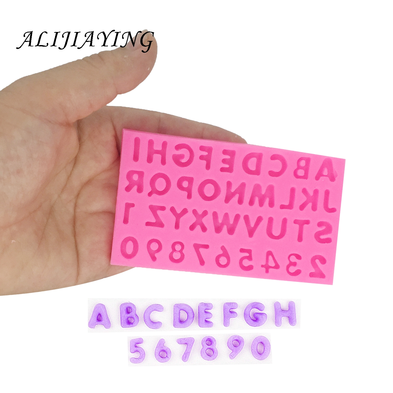 DIY Number letter Fondant Silicone Mould Cake Decoration Sugar Tools Baking Sugarcraft chocolate clay Mold D1399